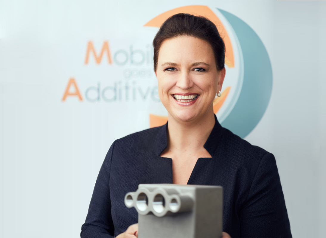"Stefanie Brickwede, Head of 3d printing@DB and Managing Director of ""Mobility goes Additive"""