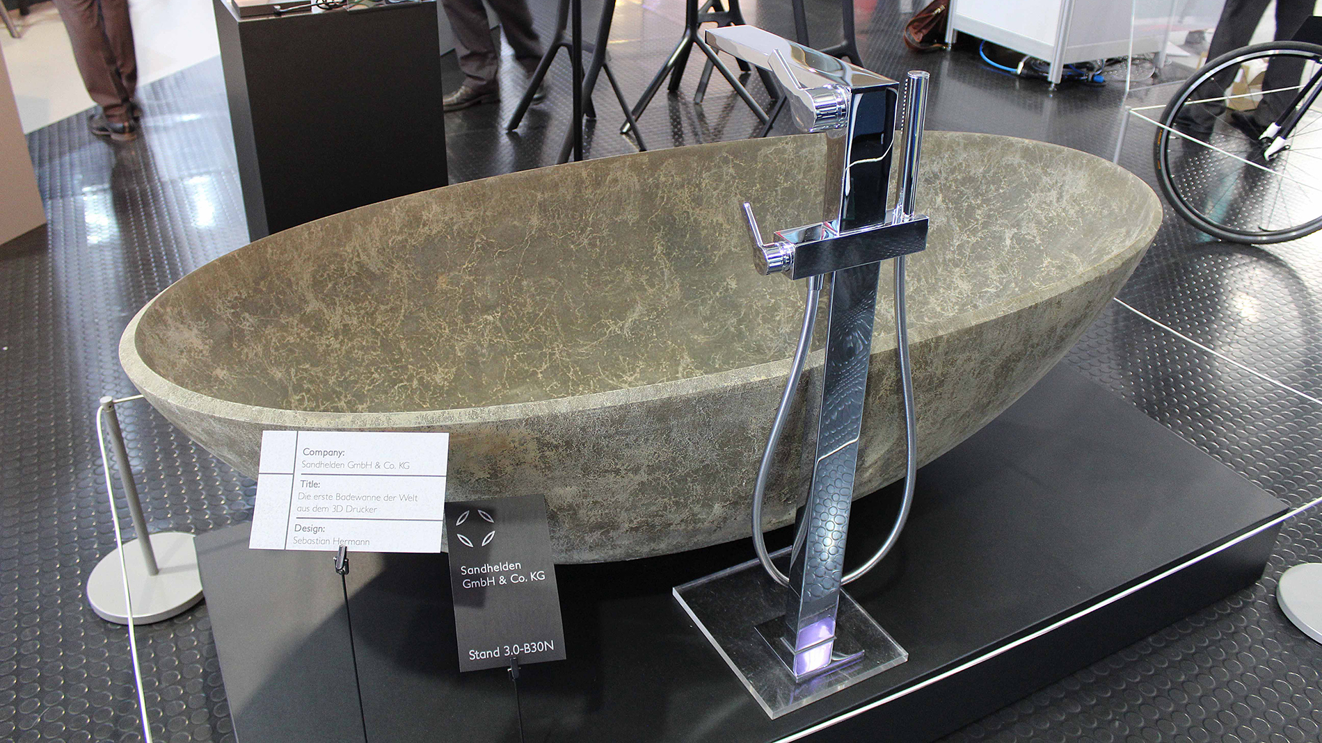 Public Choice Award: The world's first printed bathtub made of sand